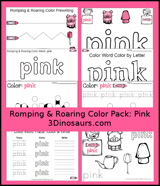 free romping roaring color pack pink 3 dinosaurs. Black Bedroom Furniture Sets. Home Design Ideas