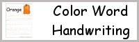 Color Word Handwriting