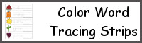 Color Word Tracing Strips