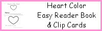 Heart Color Easy Reader Book & Clip Cards