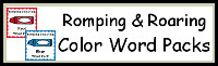 Romping & Roaring Color Word Packs