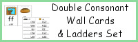 Double Consonant Wall Cards & Ladders Set
