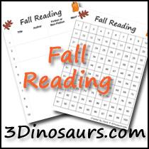 Fall Reading Charts