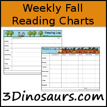 Weekly Fall Reading Chart