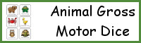 Animal Themed Gross Motor Dice