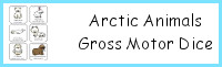 Arctic Animals Gross Motor Dice
