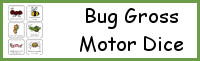 Bug Themed Gross Motor Dice