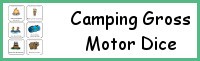 Camping Gross Motor Dice