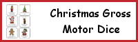 Christmas Gross Motor Dice