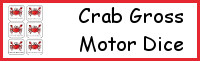 Crab Themed Gross Motor Dice