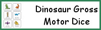 Dinosaur Gross Motor Dice