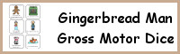 Gingerbread Man Gross Motor Dice