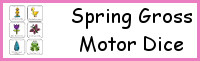 Spring Gross Motor Dice