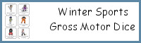 Winter Sports Gross Motor Dice