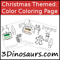 Christmas Themed Color Coloring Pages