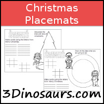 Free Christmas Placemats Printables
