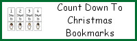 Countdown To Christmas Bookmarks