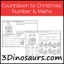 Free Countdown to Christmas with Numbers & Math