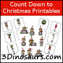 Free Count Down to Christmas Printables
