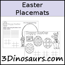 Easter Placemat Printables