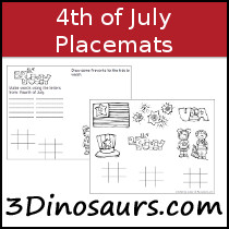 Free 4th of July Placemat Printables