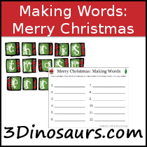 Making Words: Merry Christmas Printables
