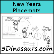 Free New Years Placemat Printables