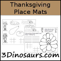 Free Thanksgiving Place Mats Printable