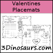 Valentines Placemats Printable