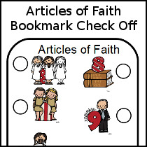 LDS Articles of Faith Bookmarks