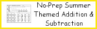 No-Prep Summer Themed Addition & Subtraction