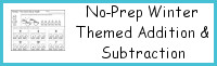 No-Prep Winter Themed Addition & Subtraction