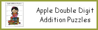 Apple Double Digit Addition Puzzles