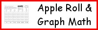Apple Roll & Graph Math Printable