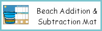 Beach Addition & Subtraction Mats