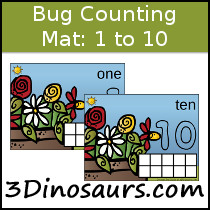 Bug Themed Counting Mats Number 1 to 10