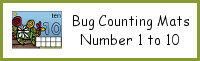 Bug Counting Mats Number 1 to 10