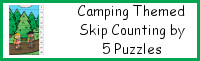 Camping Themed Skip Counting by 5 Puzzles
