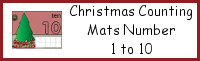 Christmas Counting Mats Number 1 to 10