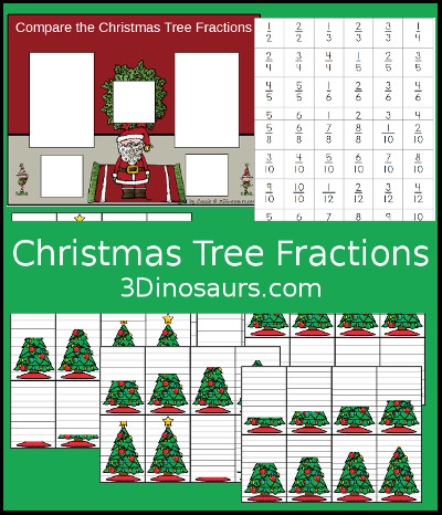 3 dinosaurs christmas tree fractions. Black Bedroom Furniture Sets. Home Design Ideas