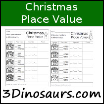 Christmas Place Value Printable