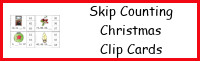Christmas Skip Counting Clip Cards
