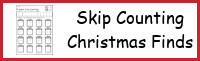 Christmas Skip Counting Find