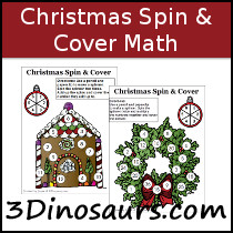Christmas Spin & Cover Math