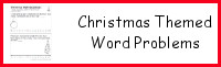 Christmas Themed Word Problems