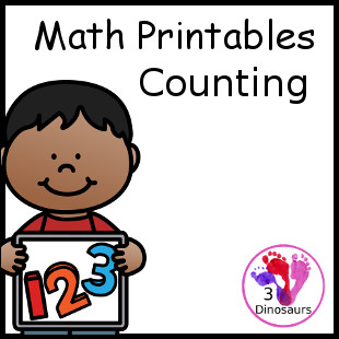 Math Printables: Counting - 3Dinosaurs.com