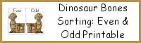 Dinosaur Bone Sorting: Even & Odd