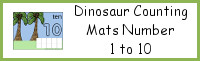 Dinosaur Counting Mats Number 1 to 10