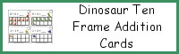 Dinosaur Ten Frame Addition Cards