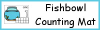 Fishbowl Counting Mats Number 1 to 10